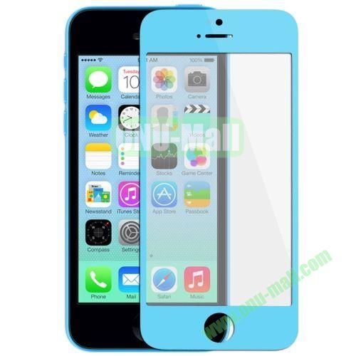 Front Screen Outer Glass Lens  LCD Mirror for iPhone 5C (Blue)
