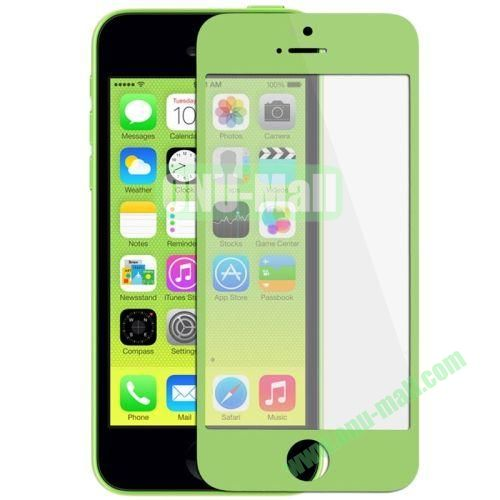 Front Screen Outer Glass Lens  LCD Mirror for iPhone 5C (Green)