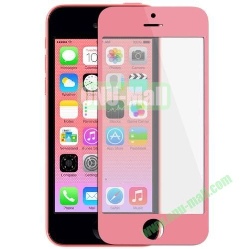 Front Screen Outer Glass Lens  LCD Mirror for iPhone 5C (Pink)