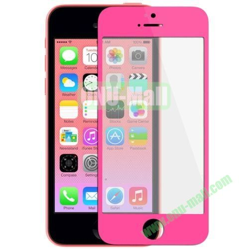 Front Screen Outer Glass Lens  LCD Mirror for iPhone 5C (Rose)