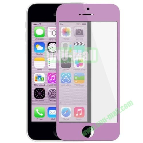 Front Screen Outer Glass Lens  LCD Mirror for iPhone 5C (Purple)