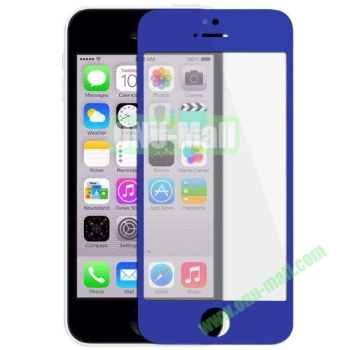 Front Screen Outer Glass Lens  LCD Mirror for iPhone 5C (Dark Blue)
