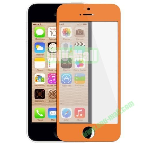 Front Screen Outer Glass Lens  LCD Mirror for iPhone 5C (Orange)