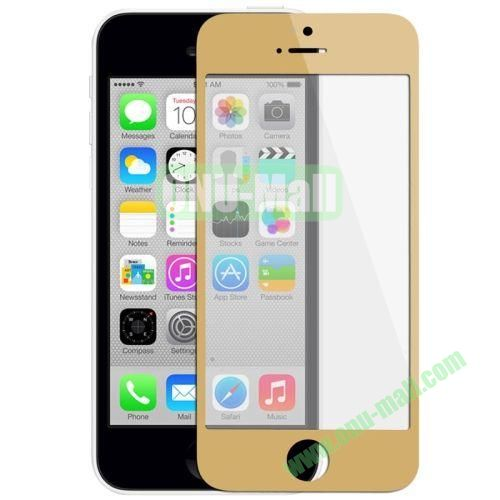 Front Screen Outer Glass Lens  LCD Mirror for iPhone 5C (Champagne Gold)