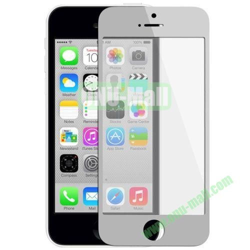 Front Screen Outer Glass Lens  LCD Mirror for iPhone 5C (Grey)
