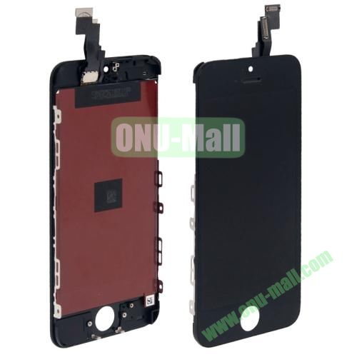 3 in 1 (LCD, Touch Pad, LCD Frame) Assembled with Original Material Digitizer Assembly for iPhone 5C (Black)