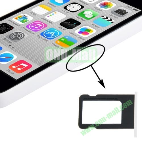 SIM Card Tray Holder for iPhone 5C (White)