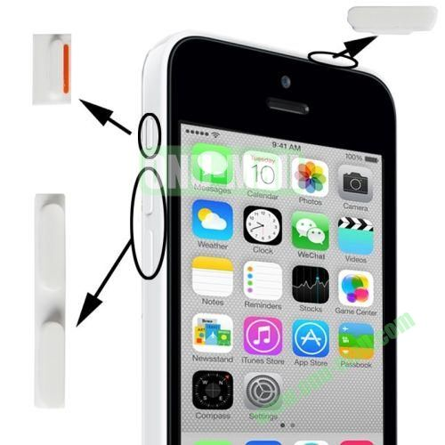 3 in 1 (Mute Button + Power Button + Volume Button) for iPhone 5C (White)
