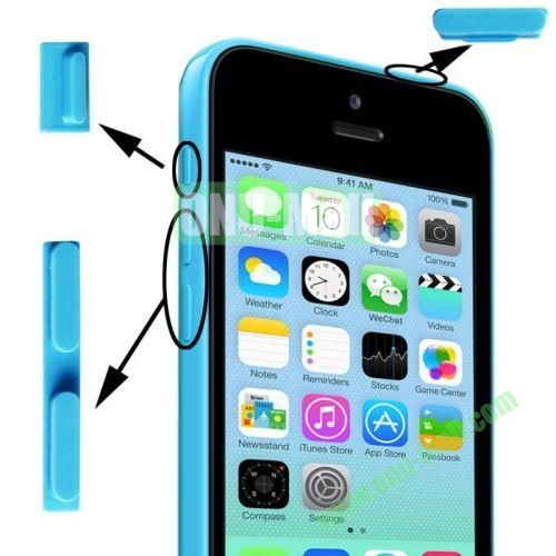 3 in 1 (Mute Button + Power Button + Volume Button) for iPhone 5C (Blue)