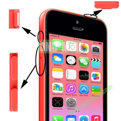 3 in 1 (Mute Button + Power Button + Volume Button) for iPhone 5C (Pink)