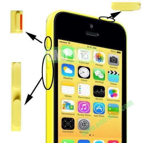3 in 1 (Mute Button + Power Button + Volume Button) for iPhone 5C (Yellow)