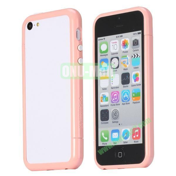 Glossy Plastic Detachable Bumper Frame Case for iPhone 5C (Pink)