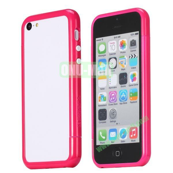 Glossy Plastic Detachable Bumper Frame Case for iPhone 5C (Rose)