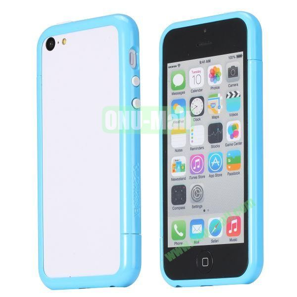 Glossy Plastic Detachable Bumper Frame Case for iPhone 5C (Blue)