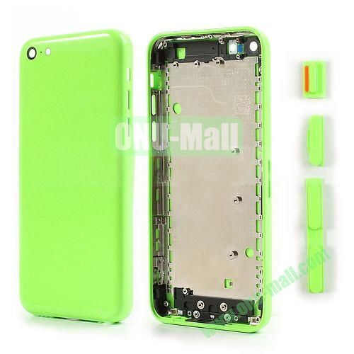 Back Cover Replacement Spare Parts for iPhone 5C With Side Buttons (Green)