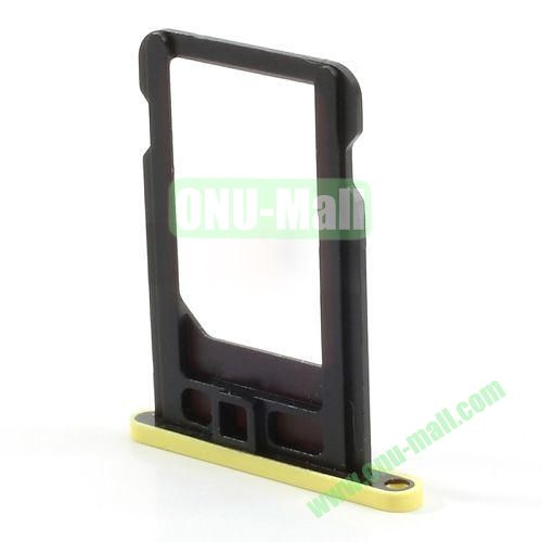SIM Card Tray Holder Replacement Part for iPhone 5C (Yellow)