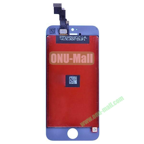 LCD Touch Screen Frame Digitizer Assembly Spare Parts for iPhone 5C (Purple)