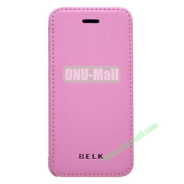 Original BELK Official Lichtee Leather Case Cover for iPhone 5C with Magnet (Pink)