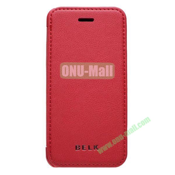 Original BELK Official Lichtee Leather Case Cover for iPhone 5C with Magnet (Red)