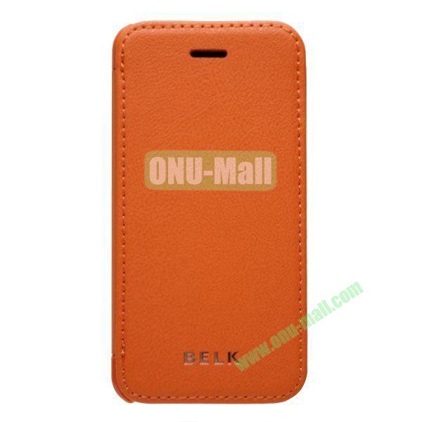 Original BELK Official Lichtee Leather Case Cover for iPhone 5C with Magnet (Orange)