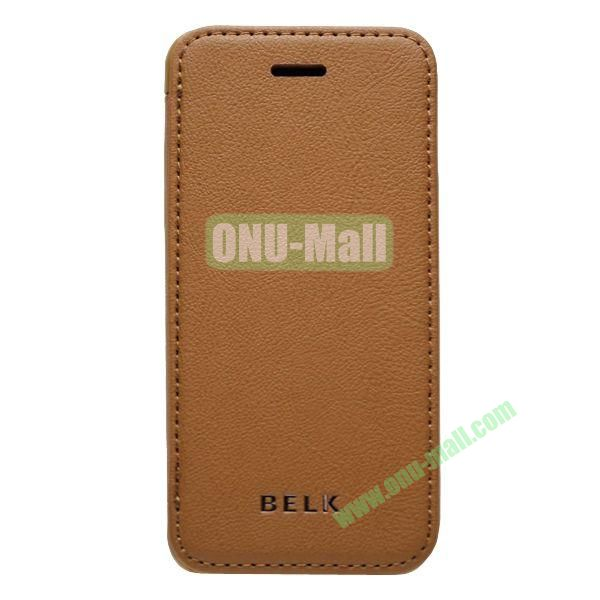 Original BELK Official Lichtee Leather Case Cover for iPhone 5C with Magnet (Brown)