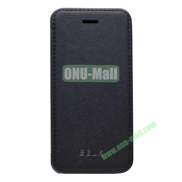 Original BELK Official Lichtee Leather Case Cover for iPhone 5C with Magnet (Black)