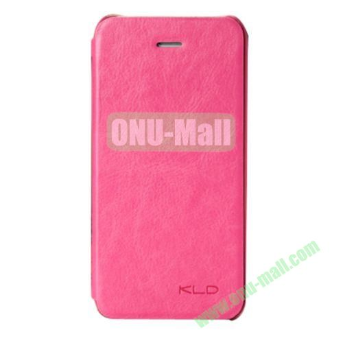 KLD Enland Series Side Flip Leather Case Cover for iPhone 5C (Rose)