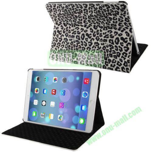 Leopard Texture Horizontal Flip Leather Case with Holder & Sleep  Wake-up Function for iPad Air (White)