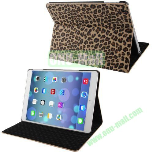 Leopard Texture Horizontal Flip Leather Case with Holder & Sleep  Wake-up Function for iPad Air (Brown)
