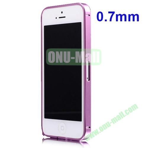 0.7mm Metal Aluminum Bumper Case for iPhone 5S & 5 (Pink)