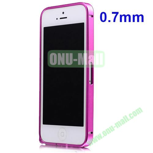 0.7mm Metal Aluminum Bumper Case for iPhone 5S & 5 (Magenta)