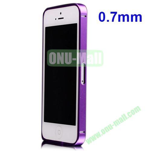 0.7mm Metal Aluminum Bumper Case for iPhone 5S & 5 (Purple)