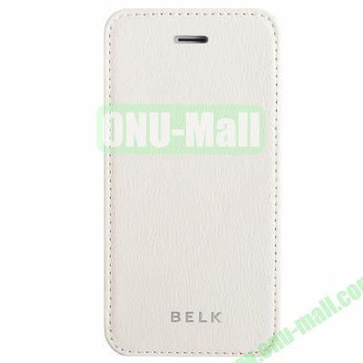 Litchi Texture Flip Pattern Leather Case for iPhone 5S5 (White)