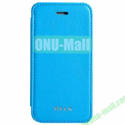 Litchi Texture Flip Pattern Leather Case for iPhone 5S5 (Blue)
