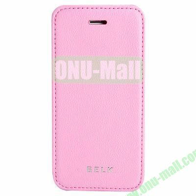 Litchi Texture Flip Pattern Leather Case for iPhone 5S5 (Pink)