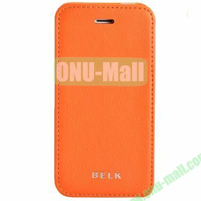 Litchi Texture Flip Pattern Leather Case for iPhone 5S5 (Orange)