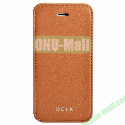 Litchi Texture Flip Pattern Leather Case for iPhone 5S5 (Brown)