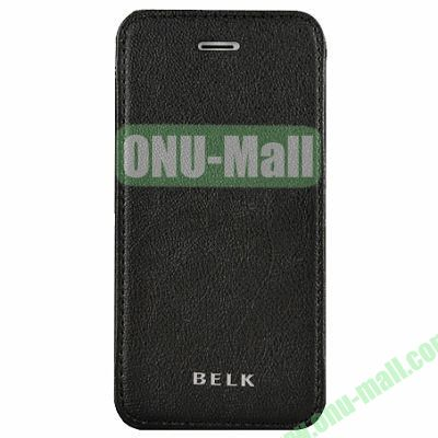 Litchi Texture Flip Pattern Leather Case for iPhone 5S5 (Black)