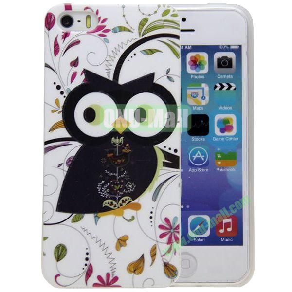 Lovely Owl Pattern TPU Case for iPhone 5S5
