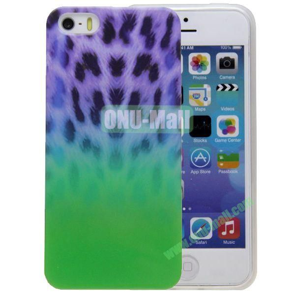 Leopard Grain Pattern TPU Case for iPhone 5S5