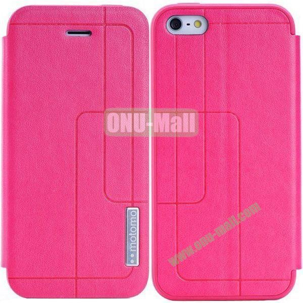 Litchi Texture Leather Case for iPhone 5S5 with Holder (Rose)