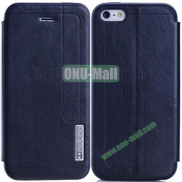 Litchi Texture Leather Case for iPhone 5S5 with Holder (Black)