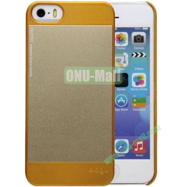2 in 1 Elago Aluminum and Polycarbonate Hard Case for iPhone 5S (Golden)