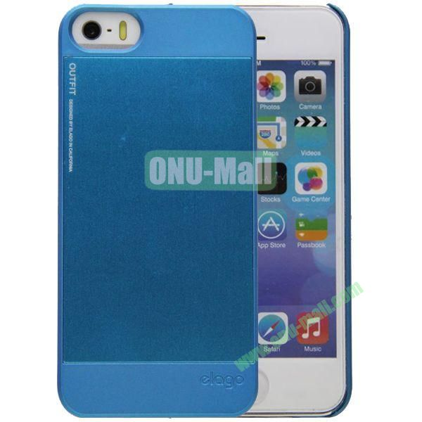 2 in 1 Elago Aluminum and Polycarbonate Hard Case for iPhone 5S (Blue)