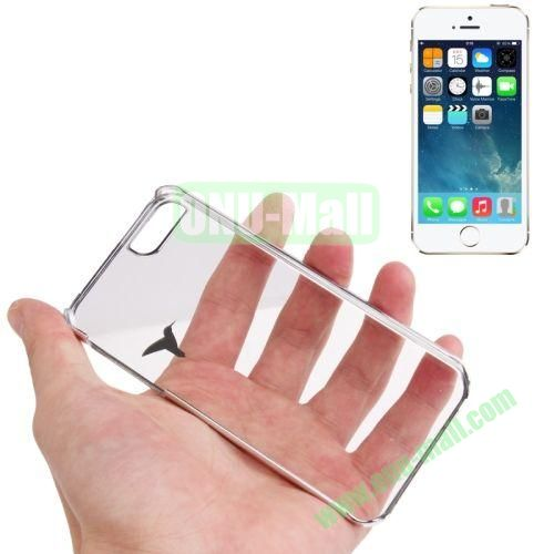 Bird Pattern Ultra-thin Anti-scratch Transparent Crystal Case for iPhone 5 & 5S (Silver)