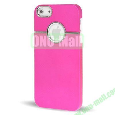 Fashionable and High Quality Hard Case for iPhone 5  5S with Chrome Inset (Rose)