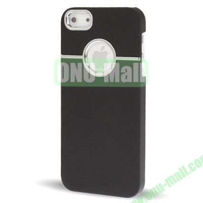 Fashionable and High Quality Hard Case for iPhone 5  5S with Chrome Inset (Black)