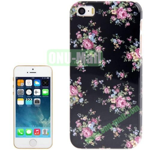 Flower Pattern Hard Case for iPhone 5S5