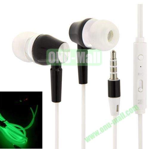 3.5mm Fluorescent Effect Metal Stereo Earphones with Line Control & Microphone, Suitable for iPad Air   iPad minimini 2 Retina  iPhone 5 & 5S  iPhone 6  Samsung S5  HTC One 2  Other Smart Phone (Black)