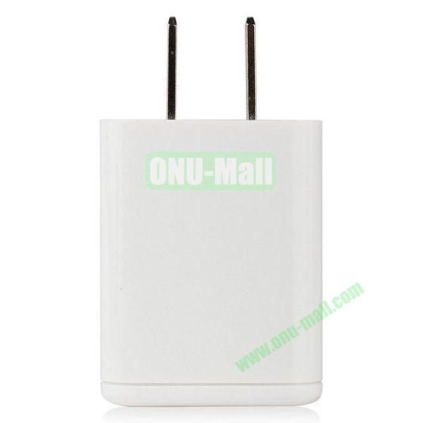 UME Travel Charger Adapter for iPhone 6  Samsung S5  HTC One 2 & M8  Sony Xperia Z2  Other Smart Phone (White)
